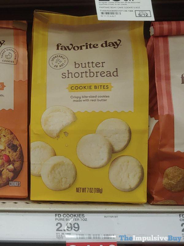 Favorite Day Butter Shortbread Cookie Bites