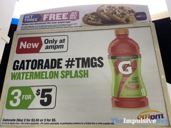 Limited Edition Gatorade Watermelon Splash Signage