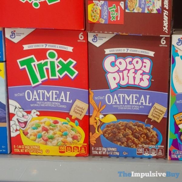 General Mills Trix and Cocoa Puffs Oatmeal