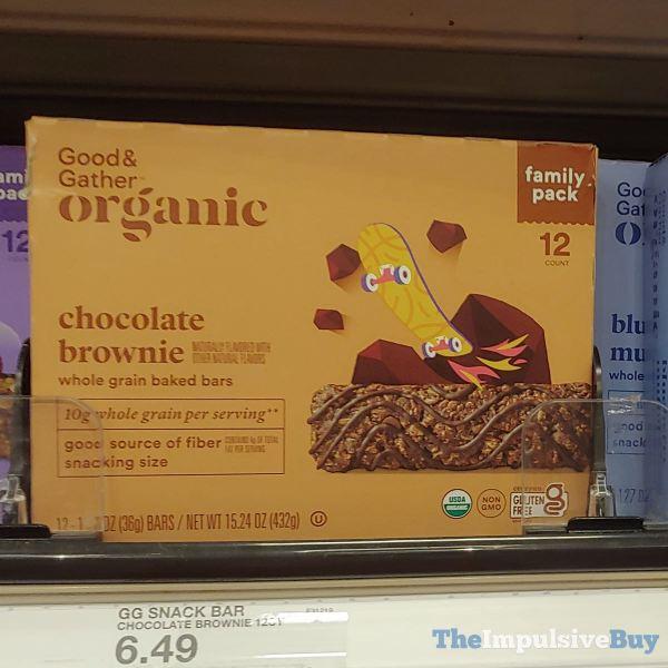 Good  Gather Organic Chocolate Brownie Whole Grain Baked Bars