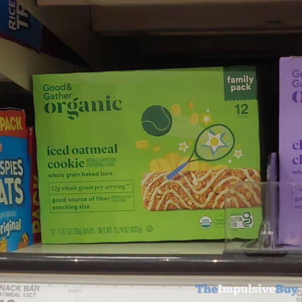 Good  Gather Organic Iced Oatmeal Cookie Whole Grain Baked Bars