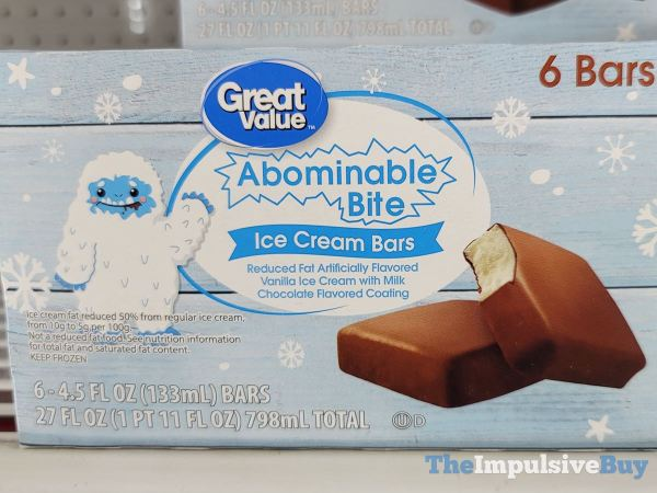 Great Value Abominable Bite Ice Cream Bars
