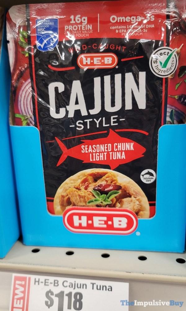 H E B Cajun Style Seasoned Chunk Light Tuna