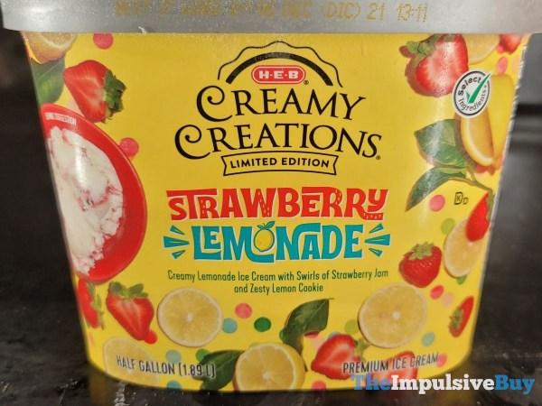 H E B Creamy Creations Limited Edition Strawberry Lemonade Ice Cream
