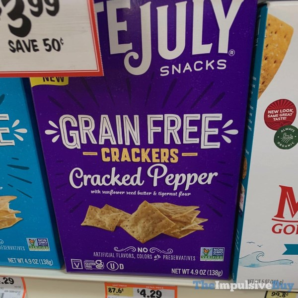 Late July Snacks Cracked Pepper Grain Free Crackers
