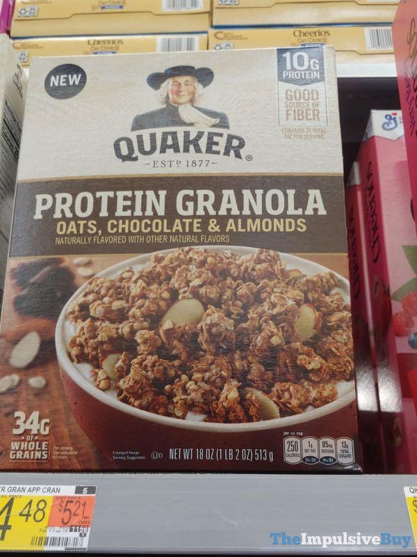 Quaker Protein Granola Oats Chocolate  Almonds