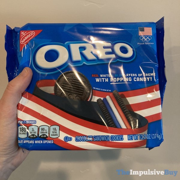 Red White  Blue Creme Oreo with Popping Candy