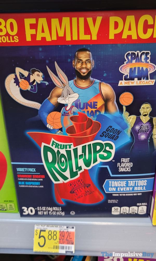 Space Jam A New Legacy Fruit Roll Ups Family Pack