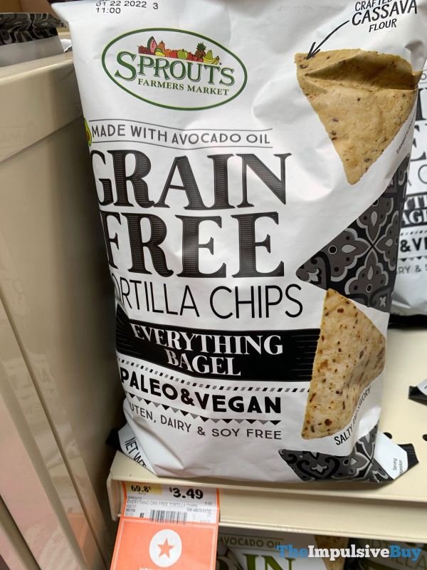 Sprouts Everything Bagel Grain Free Tortilla Chips