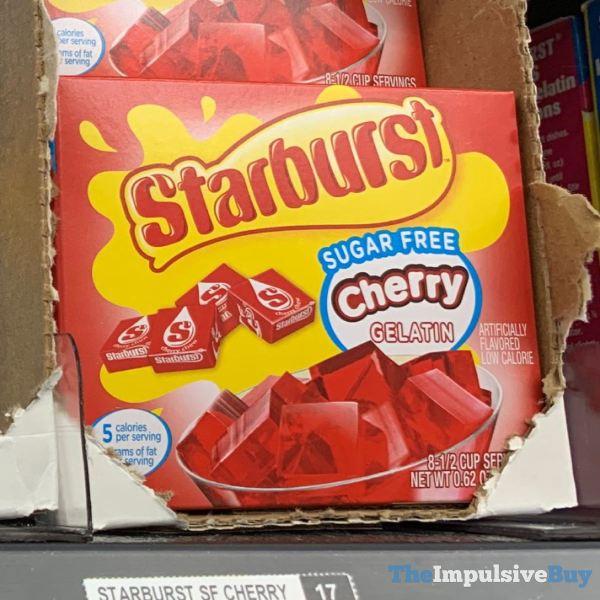 Starburst Sugar Free Cherry Gelatin