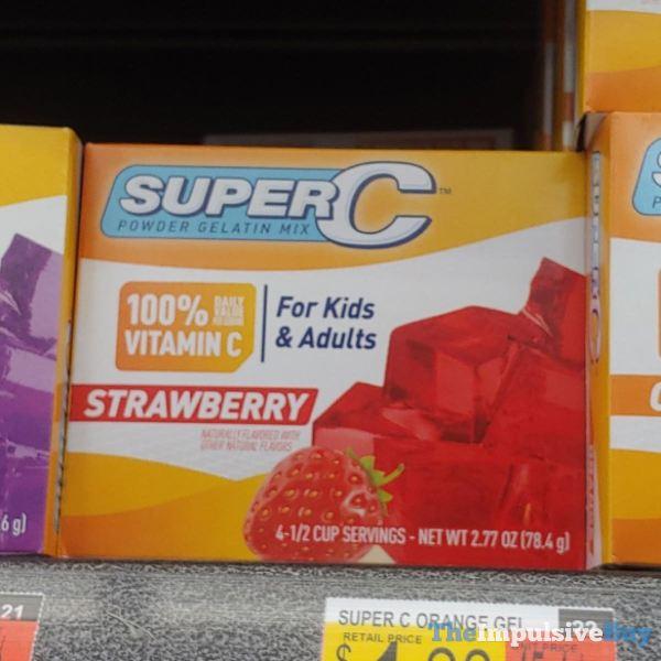 SuperC Powder Gelatin Mix Strawberry