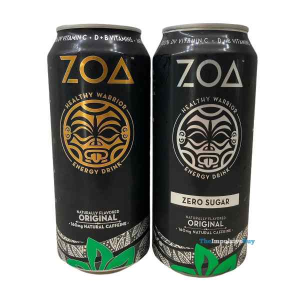 Zoa Energy Drink Cans