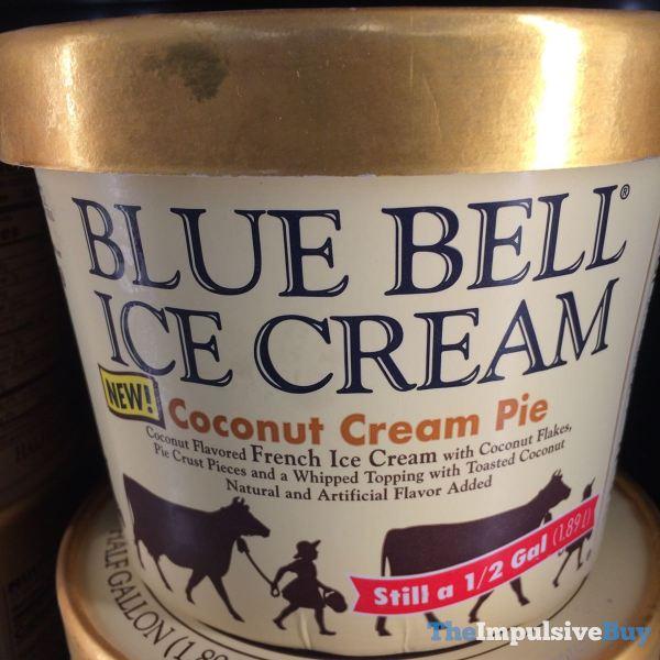 Blue Bell Coconut Cream Pie Ice Cream