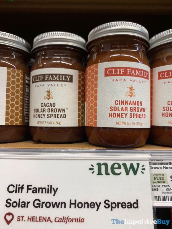 Clif Family Solar Grown Honey Spreads  Cacao and Cinnamon