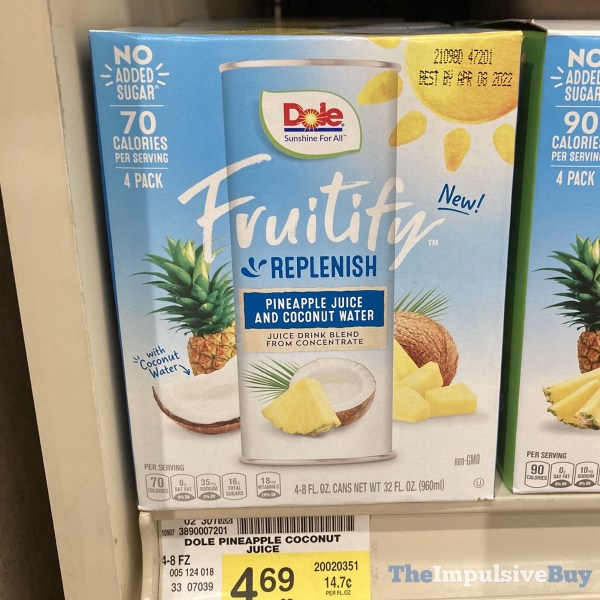 Fruitify Replenish Pineapple Juice and Coconut Water
