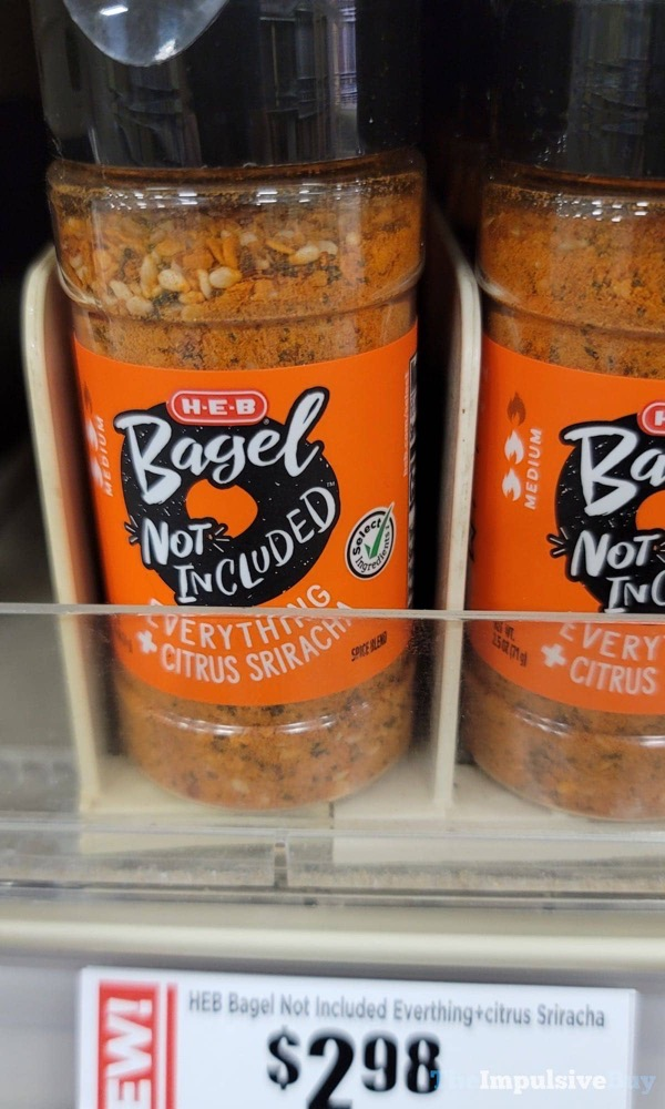 H E B Bagel Not Included Everything + Citrus Sriracha Seasoning
