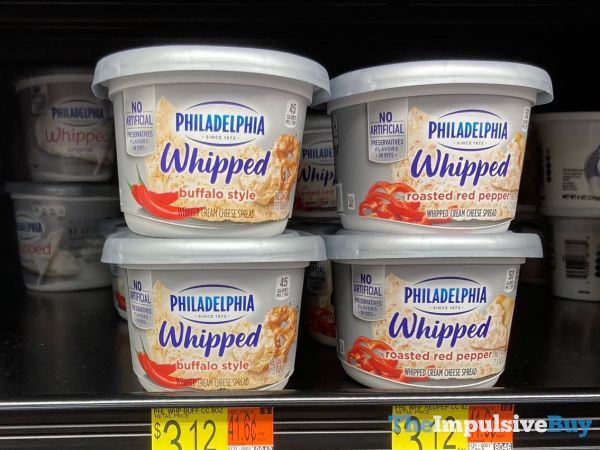 Philadelphia Whipped  Buffalo Style and Roasted Red Pepper