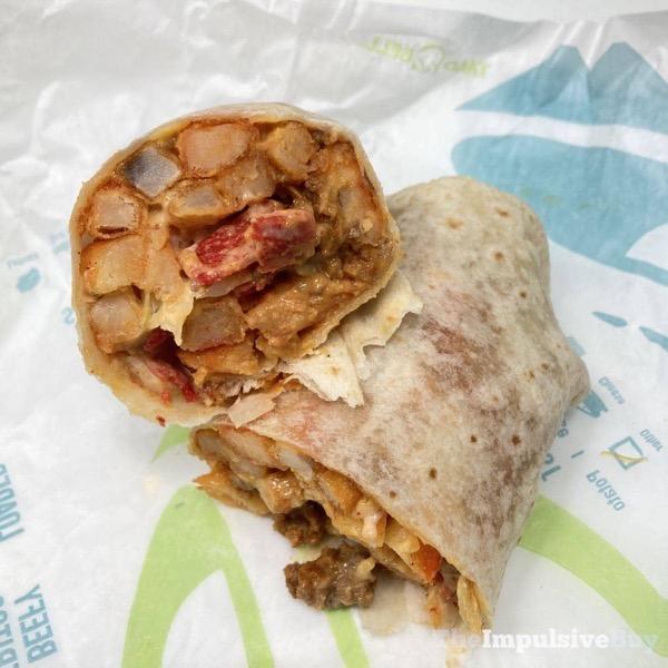 Taco Bell Loaded Fries Burrito Split
