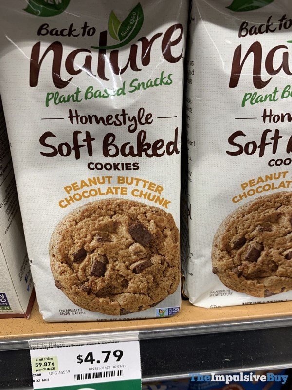 Back to Nature Homestyle Soft Baked Cookies Peanut Butter Chocolate Chunk