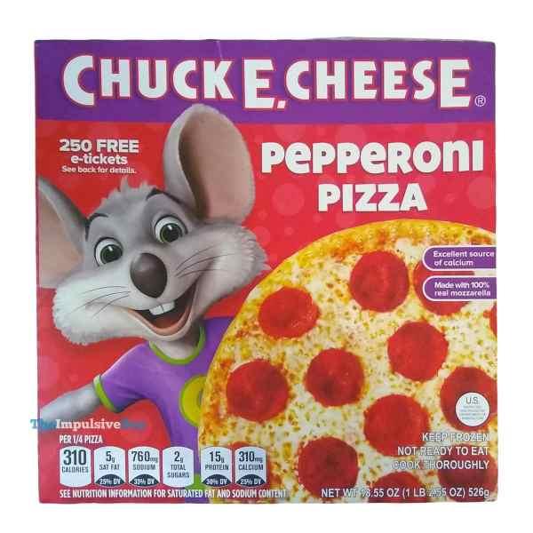 Chuck E Cheese Pepperoni Frozen Pizza Box