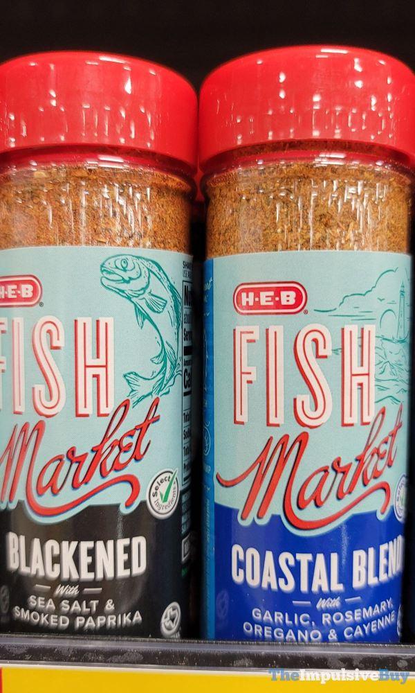 H E B Fish Market Seafood Rub  Blackened and Coastal Blend