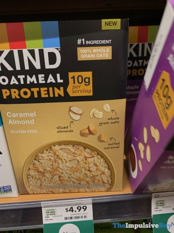 KIND Oatmeal Protein Caramel Almond