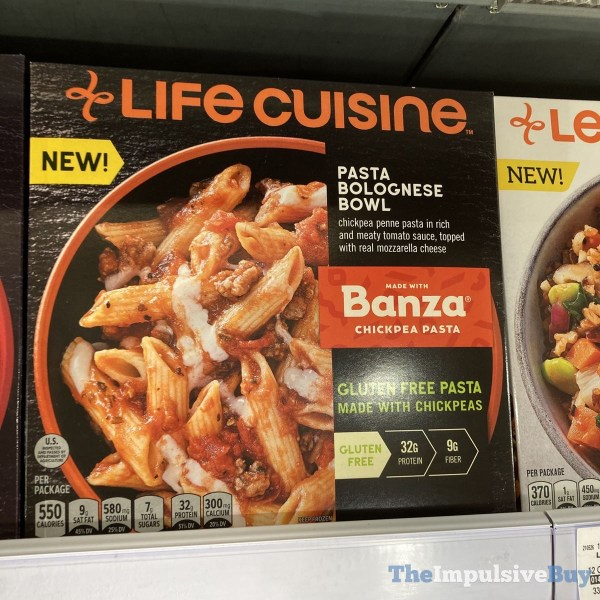 Life Cuisine Pasta Bolognese Bowl made with Banza Chickpea Pasta