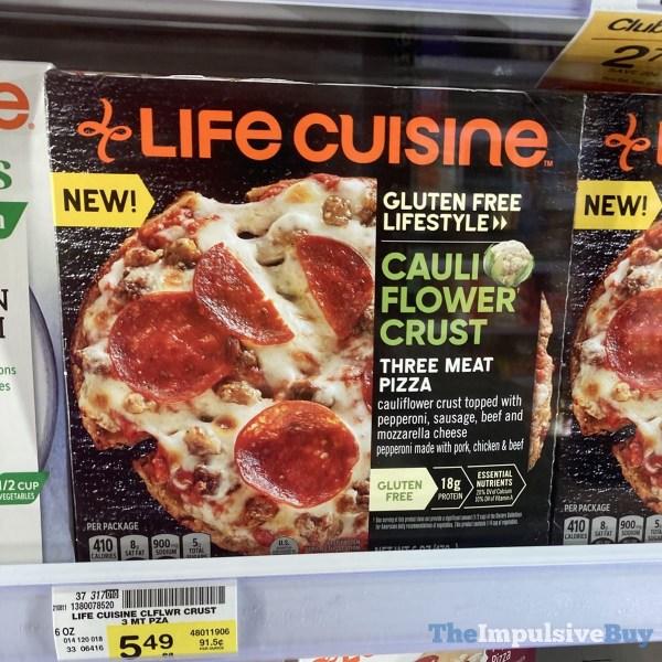 Life Cuisine Gluten Free Lifestyle Cauliflower Crust Three Meat Pizza