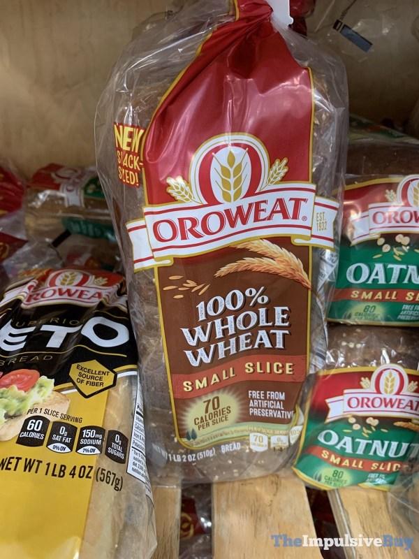 Oroweat Small Slice 100 Whole Wheat Bread