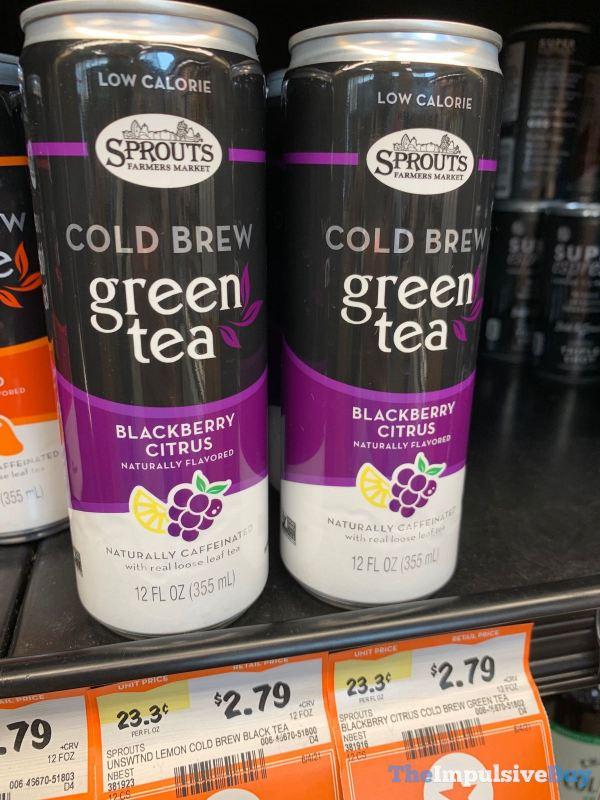 Sprouts Blackberry Citrus Cold Brew Green Tea