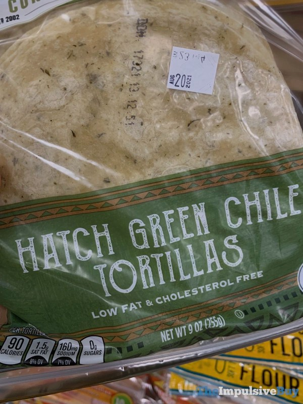 Sprouts Hatch Green Chile Tortillas
