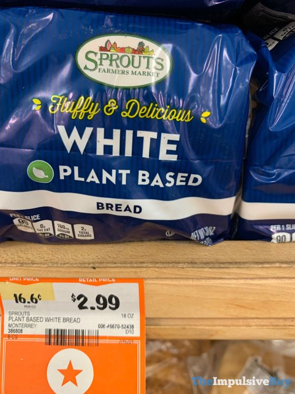 Sprouts Plant Based White Bread