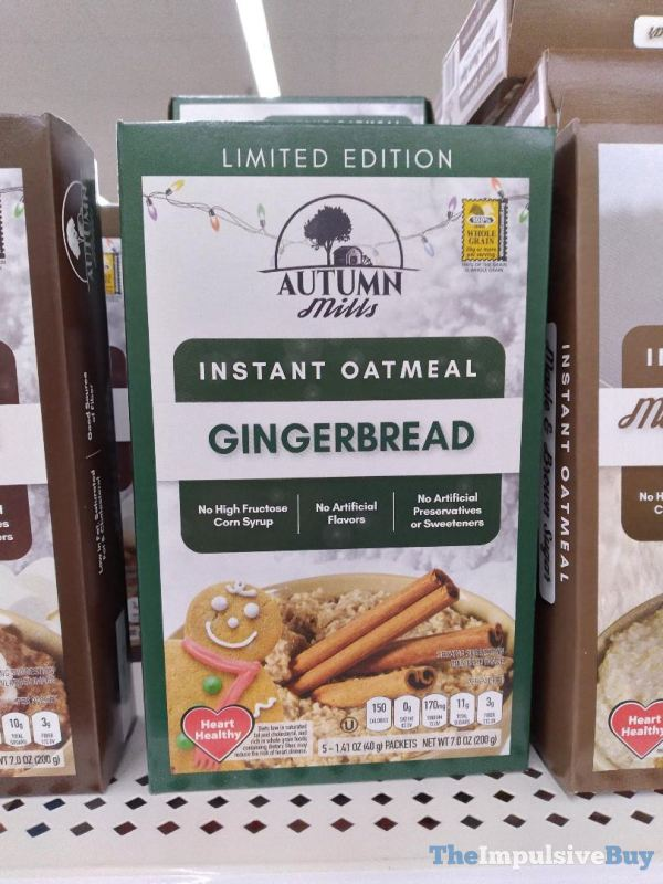 Autumn Mills Limited Edition Gingerbread Instant Oatmeal