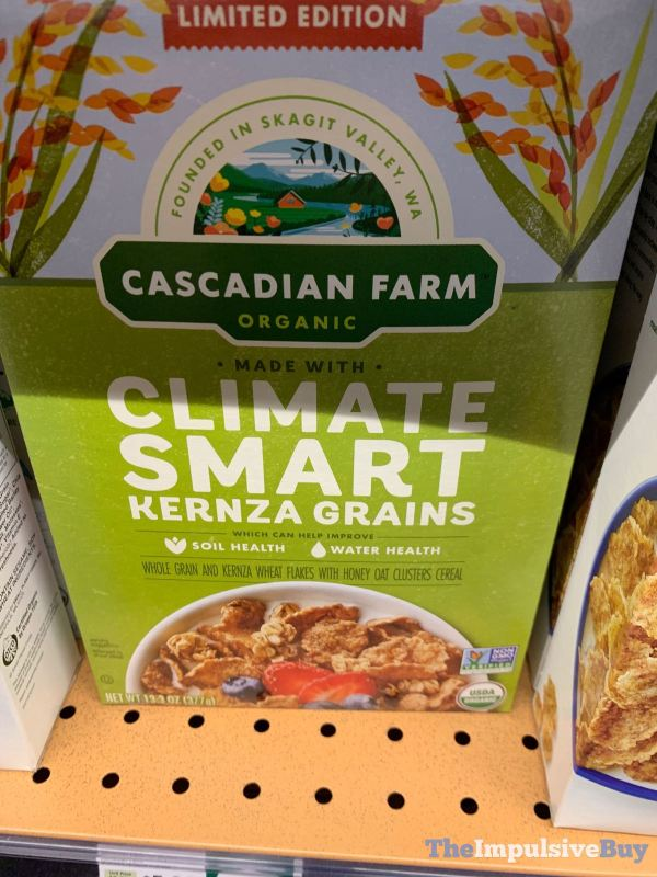 Cascadian Farm Limited Edition Climate Smart Kernza Grains Cereal