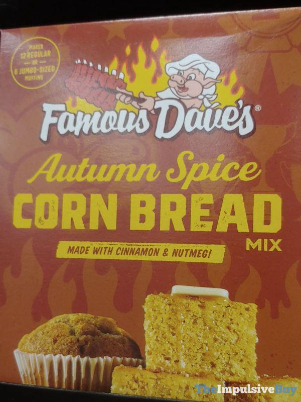Famous Dave s Autumn Spice Corn Bread Mix