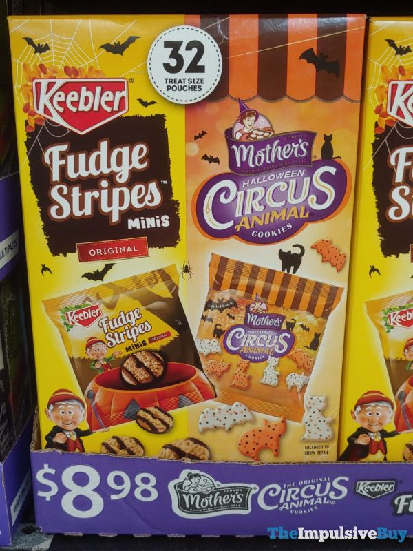 Keebler Fudge Stripes Minis and Mother s Halloween Circus Animal Cookie Pack