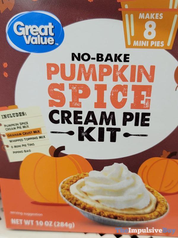 Great Value No Bake Pumpkin Spice Cream Pie Kit