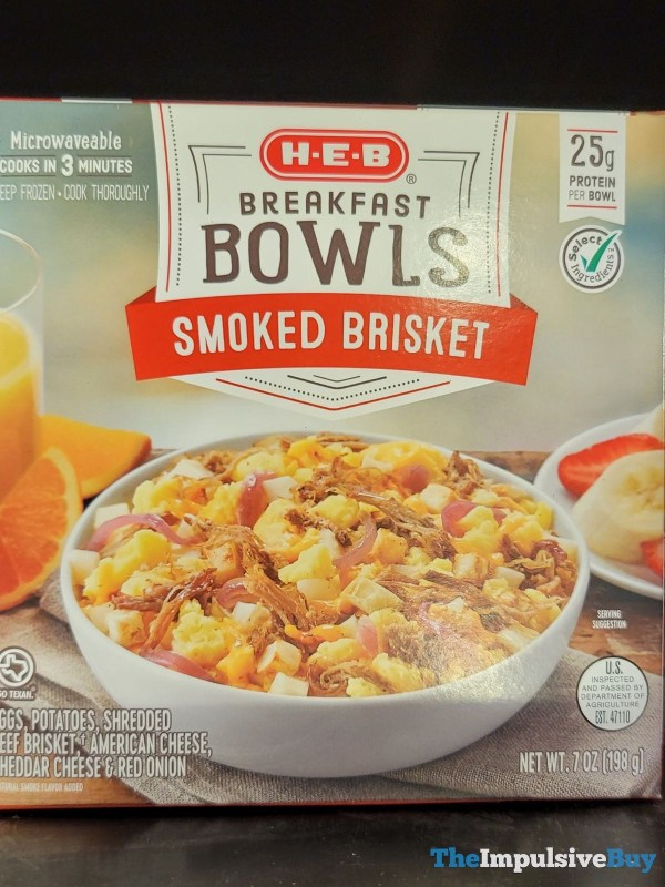 H E B Breakfast Bowls Smoked Brisket