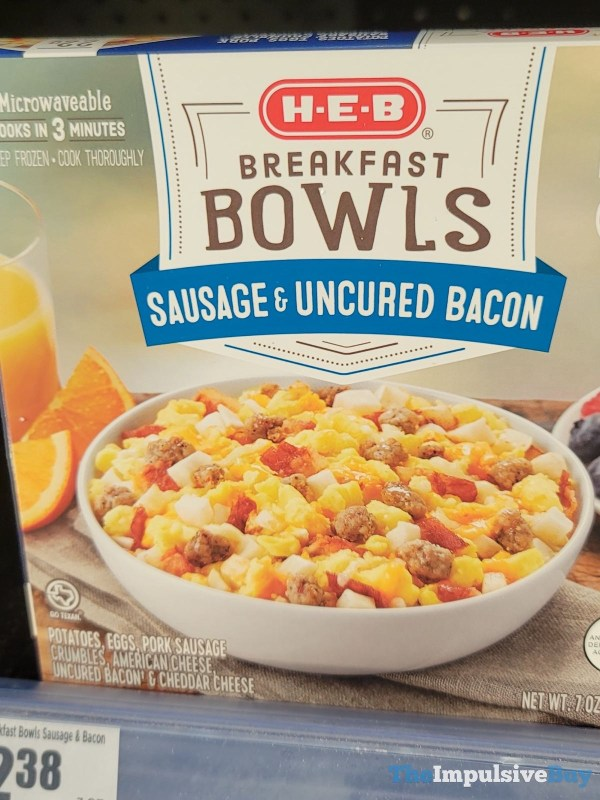 H E B Breakfast Bowls Sausage  Uncured Bacon