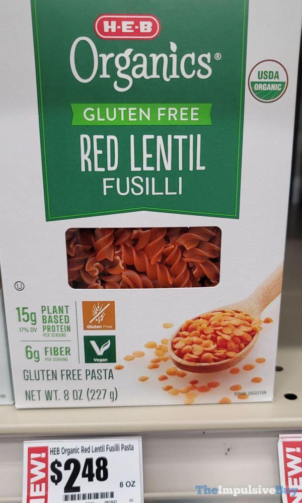 H E B Organics Gluten Free Red Lentil Fusilli