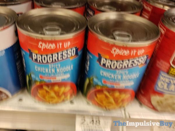 Progresso Spicy Chicken Noodle with Jalapeno
