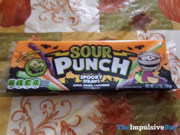 Sour Punch Spooky Straws Apple Grape Tangerine