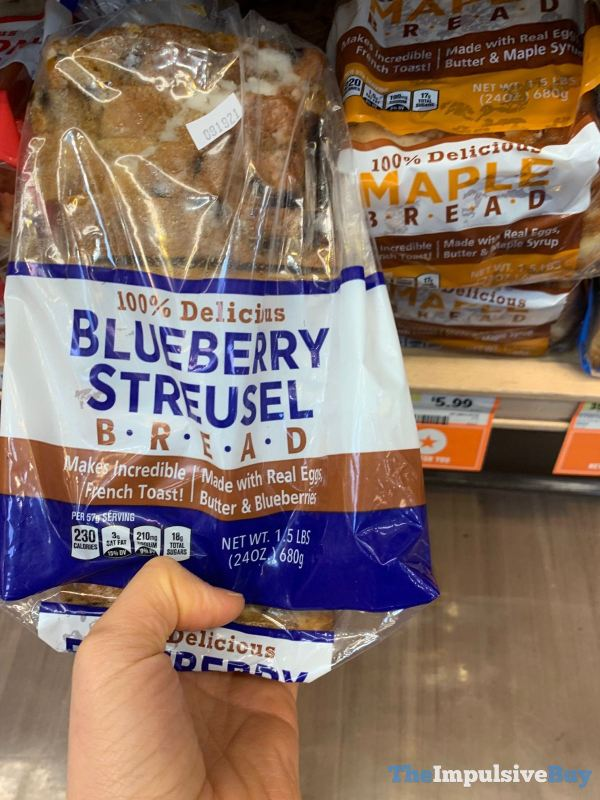 Sprouts Blueberry Streusel Bread