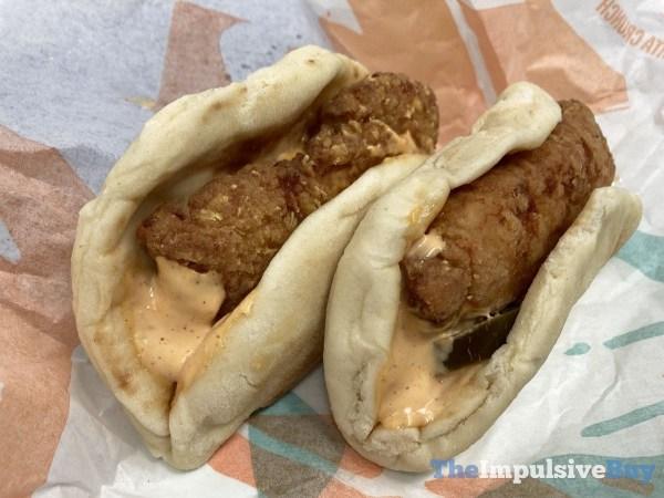 Taco Bell Crispy Chicken Sandwich Taco Both