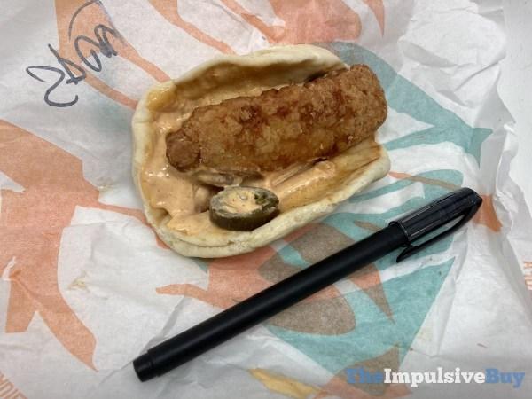 Taco Bell Crispy Chicken Sandwich Taco Size