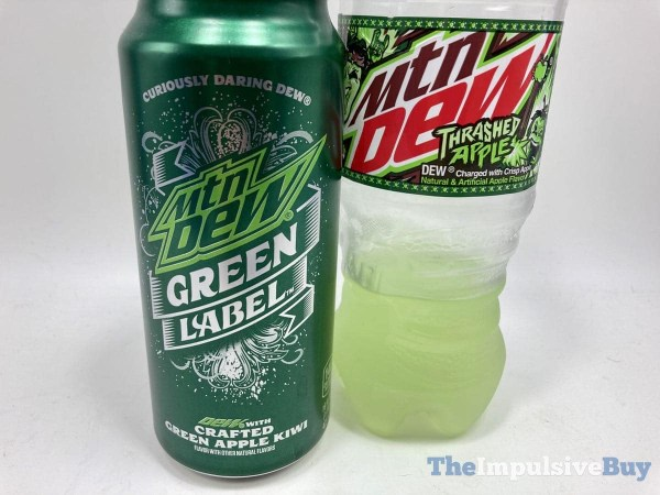 Mtn Dew Thrashed Apple Green Label