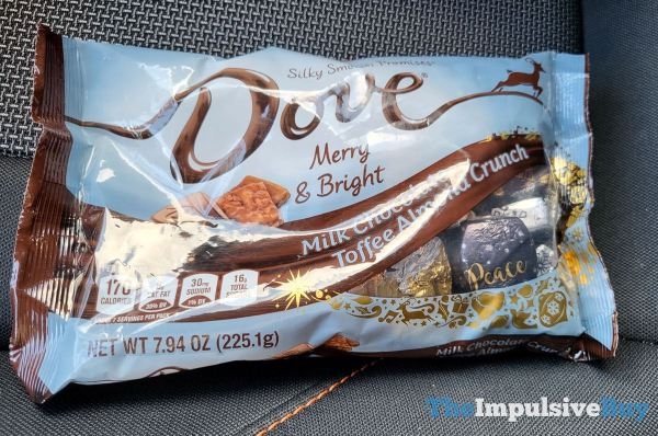 Dove Merry  Bright Milk Chocolate Toffee Almond Crunch Promises