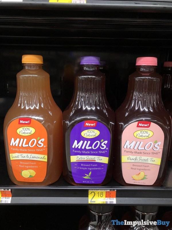 Milo s Sweet Tea  Lemonade Extra Sweet Tea and Peach Sweet Tea
