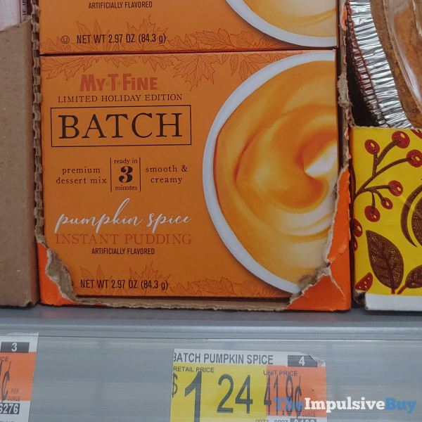 My T Fine Limited Holiday Edition Batch Pumpkin Spice Instant Pudding