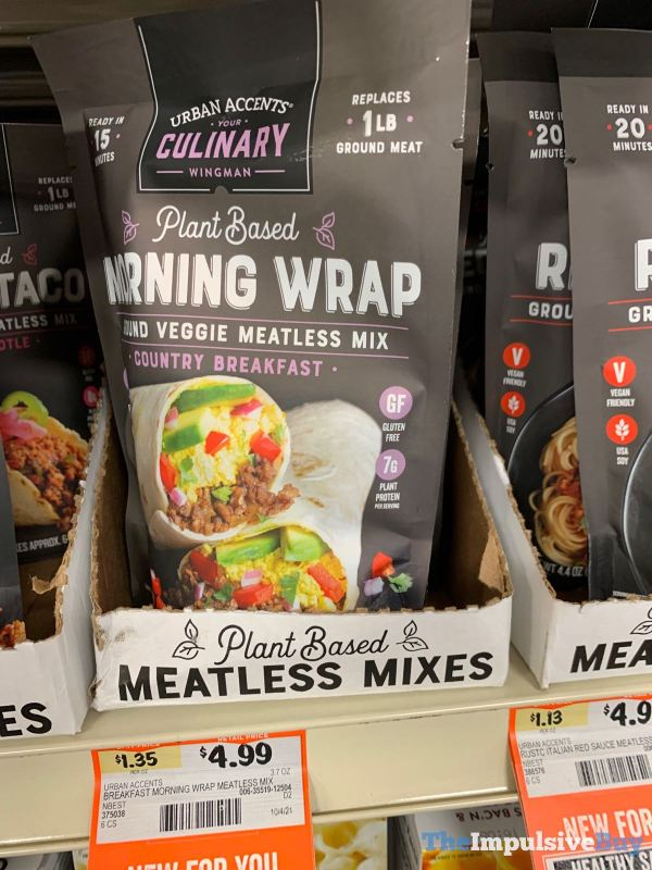 Urban Accents Plant Based Morning Wrap Country Breakfast Ground Veggie Meatless Mix